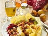 Kopfsalat mit Speck-Zwiebel-Soße Rezept