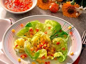Kopfsalat mit Tomaten- Vinaigrette Rezept