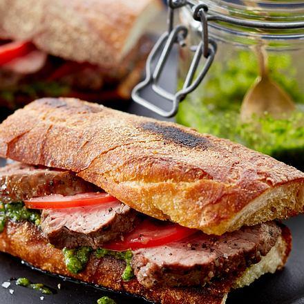 Korianderpesto-Sandwich Rezept