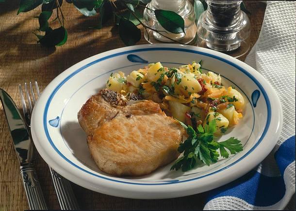 Kotelett mit Kartoffelgemüse Rezept