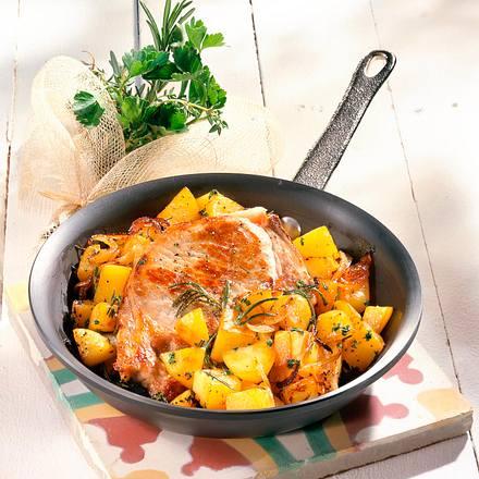 Kotelett mit Kräuter-Kartoffeln Rezept