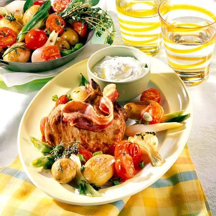Kotelett mit Röstkartoffeln Rezept