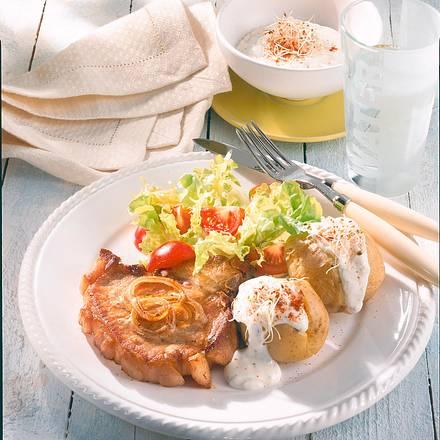 Kotelett zu Quark-Kartoffeln (Diabetiker) Rezept