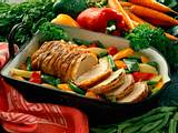 Kotelettbraten mit buntem Gemüse Rezept