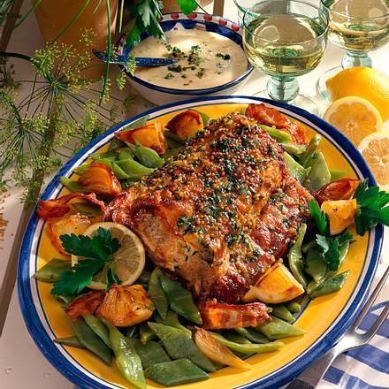 Kotelettbraten und Schneidebohnen Rezept