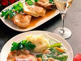 Koteletts mit Meerrettich-Frischkäse-Füllung Rezept