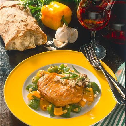 Koteletts mit Paprika und Schafkäse Rezept