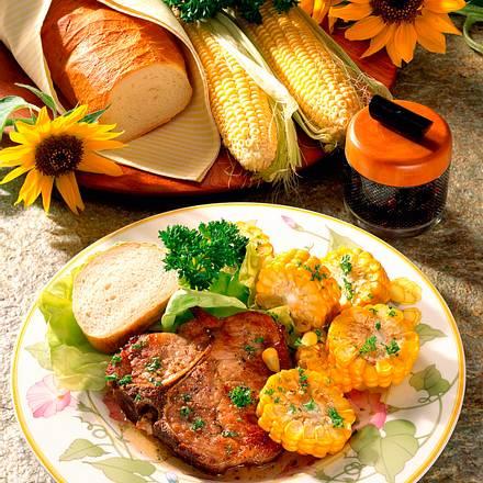 Koteletts zu frischem Mais Rezept