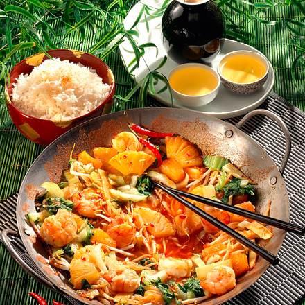 Krabben-Gemüse-Pfanne Rezept