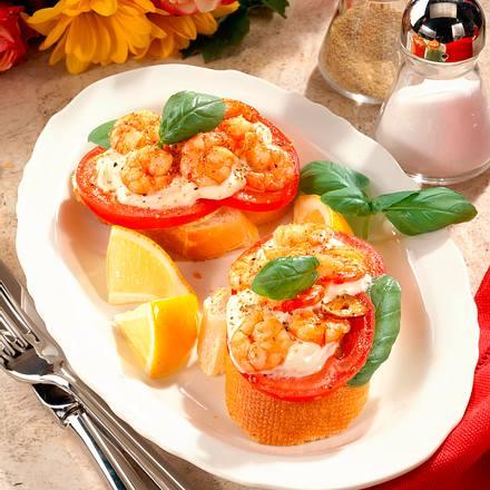 Krabben-Tomaten-Baguette Rezept