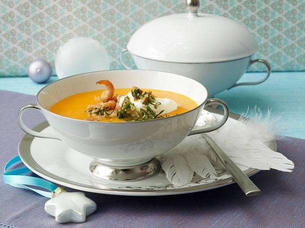 Krabbensuppe mit Dill-Pesto Rezept