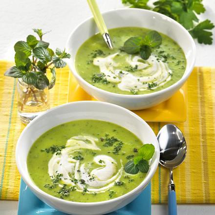 Kräuter-Erbsen-Cremesuppe (Diabetiker) Rezept