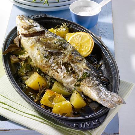Kräuter fisch auf kartoffeln aus dem ofen rezept