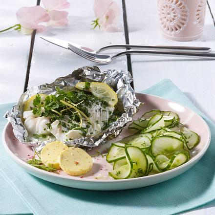 Kräuter-Fischfilet mit Zitronenbutter Rezept