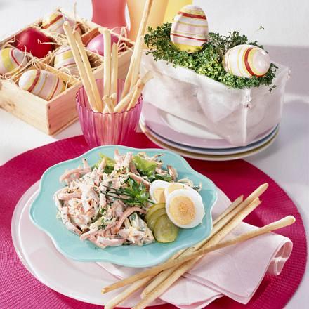 Kräuter-Fleischsalat Rezept