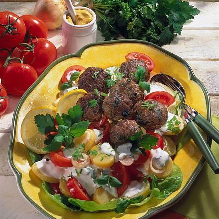 Kräuter-Frikadellen zu Kartoffelsalat Rezept