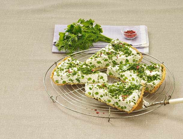 Kräuter-Frischkäse-Tarte Rezept