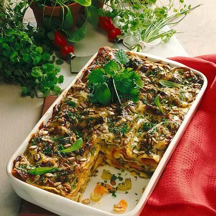 Kräuter-Gemüse-Lasagne Rezept