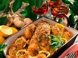 Kräuter-Hähnchen auf Kartoffeln Rezept