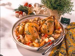 Kräuter-Hähnchen auf Schmorgemüse Rezept