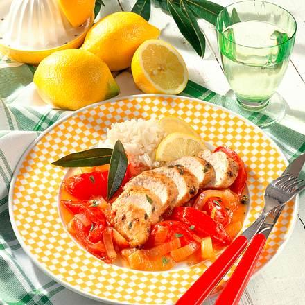 Kräuter-Hähnchenfilet mit Tomaten Rezept
