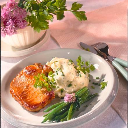 Kräuter-Kratoffelpüree zu Schweinekotelett Rezept