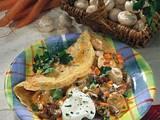 Kräuter-Pfannkuchen mit Pilzfüllung Rezept