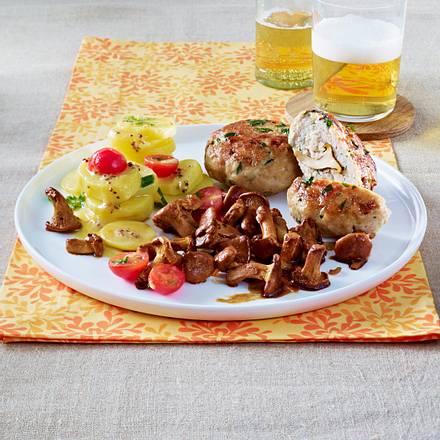 Kräuter-Pilz-Frikadellen mit Kartoffelsalat Rezept