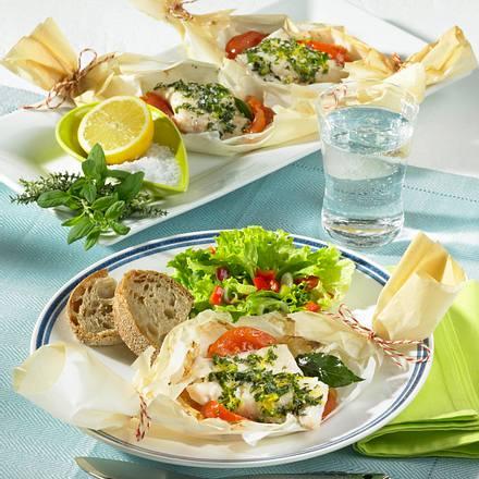 Kräuter-Zitronen-Fisch in Pergament Rezept