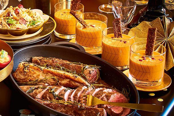 Kräuterfilet in Sherrysoße mit Salat à la Waldorf Rezept
