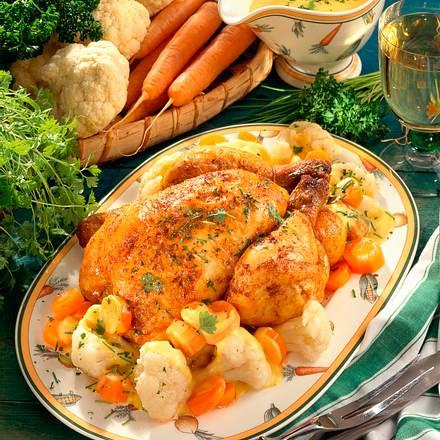 Kräuterhähnchen mit Gemüse Rezept