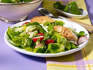 Kräutersalat mit Putenmedaillons Rezept
