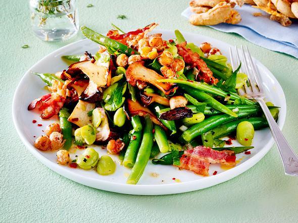 Kräuterseitling-Bohnen-Salat Rezept
