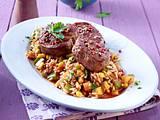 Kreolische Reispfanne zu Schweine-Medaillons Rezept