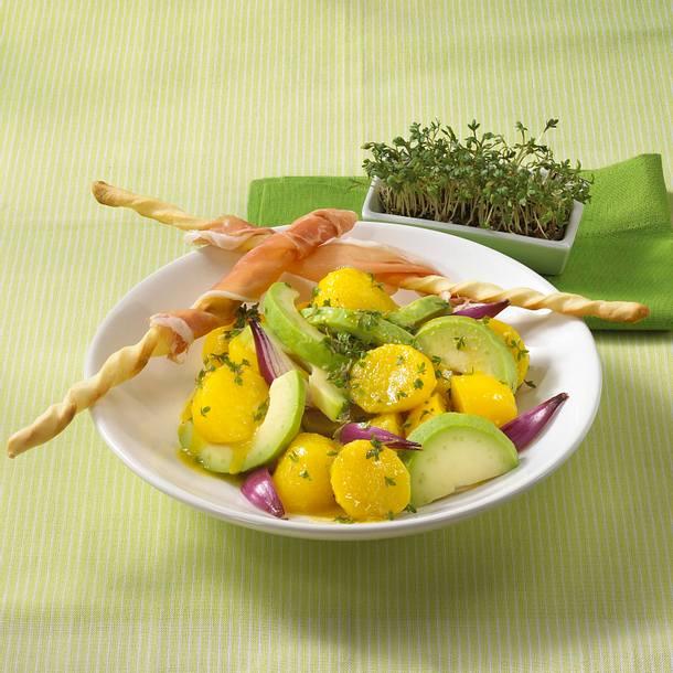Kresse-Kartoffelsalat mit Parmaschinken Rezept