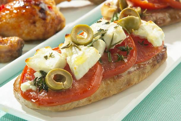 Kreta-Schnitzel mit Tomaten und Feta Rezept