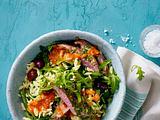 Kritharaki-Salat mit Lamm und Hot-Harissa-Dressing Rezept