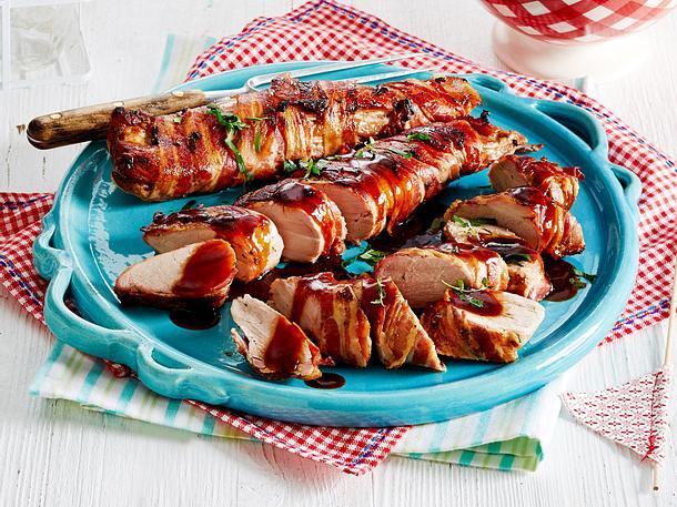 Krosse Baconfilets mit Barbecuesoße Rezept