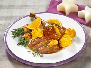 Krosse Ente in Orangensoße Rezept