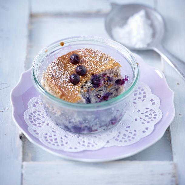 Kuchen im Glas zum Verschenken: mit Heidelbeeren Rezept