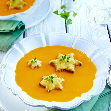 Kürbis-Apfel-Suppe überbacken Rezept