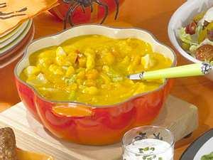 Kürbis-Hähnchen-Curry Rezept