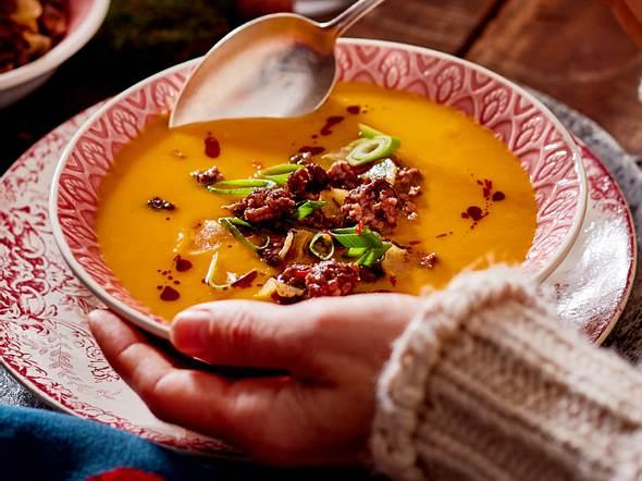 Kürbis-Süßkartoffel-Suppe Rezept
