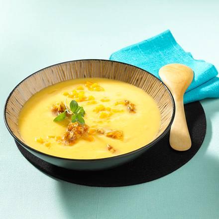 Kürbissuppe mit Ingwer und Nüssen Rezept