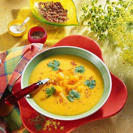 Kürbissuppe mit Koriander Rezept