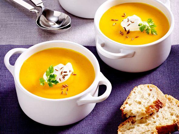 Kürbissuppe mit Orange und Kreuzkümmel Rezept