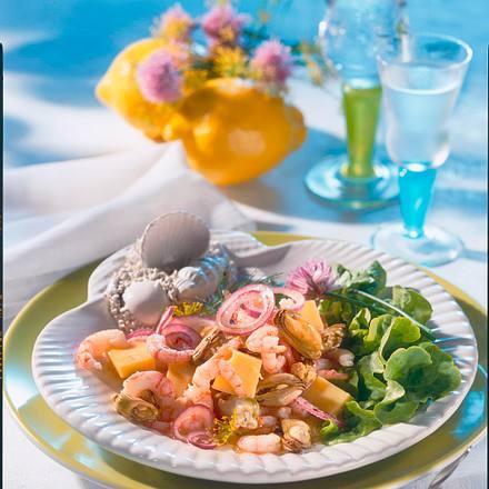 Küstencocktail aus Shrimps und Seemuscheln Rezept