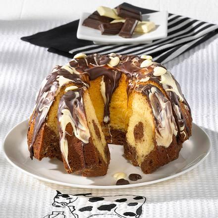 Kuhflecken-Marmorkuchen Rezept