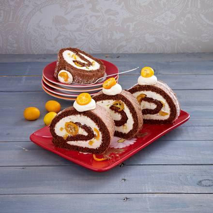 Kumquat-Biskuitrolle Rezept