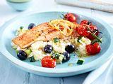Lachs auf Zucchini-Risotto Rezept